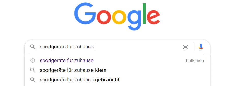 Google Suggest: Vorschläge